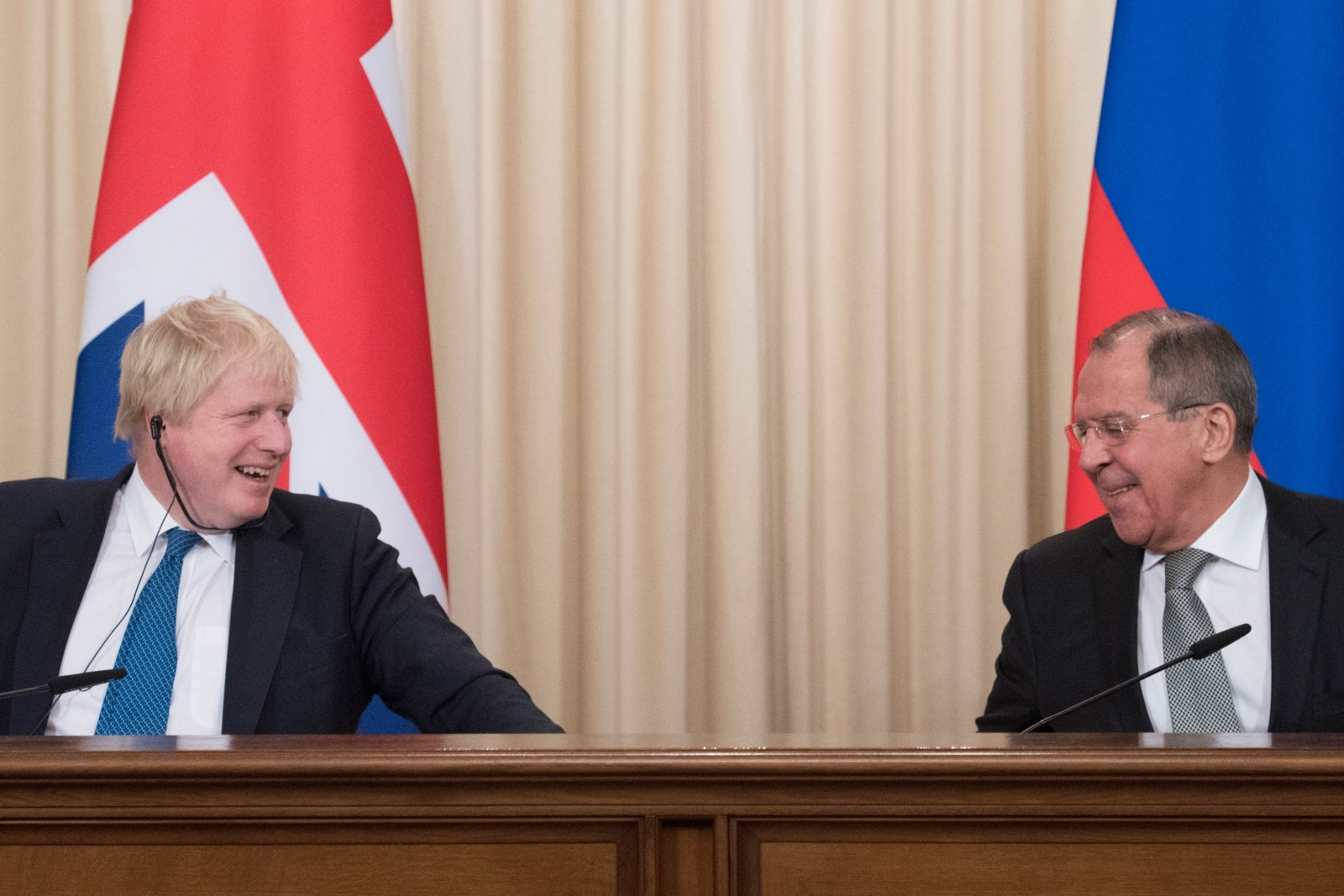 Boris Johnson and Sergei Lavrov