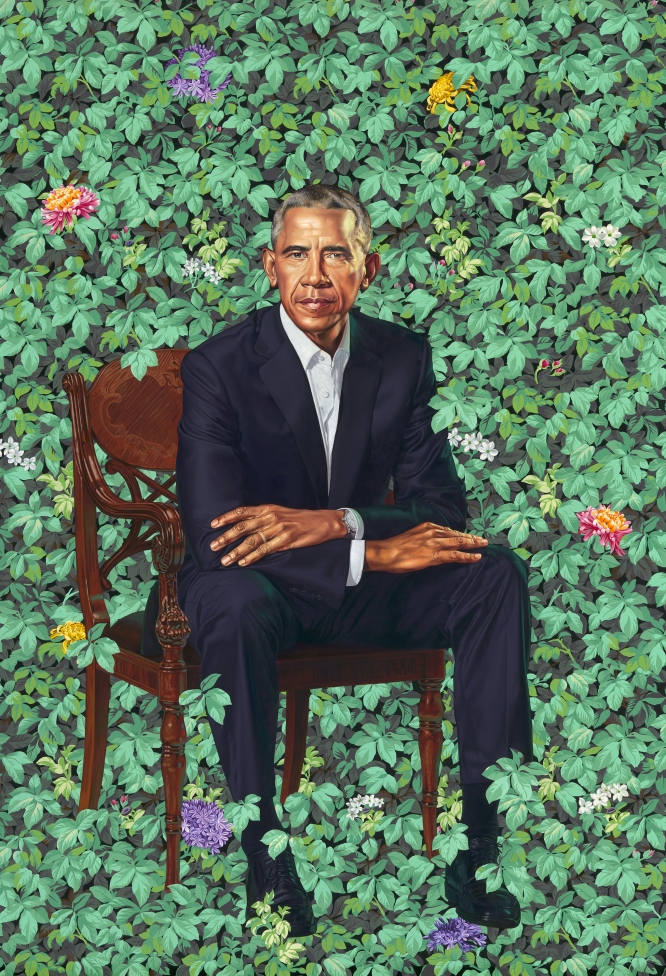Stunning new portraits of the Obamas have been unveiled