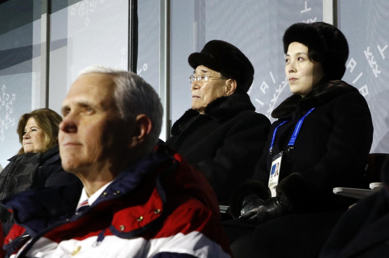 Mike Pence Kim Yo-jong Winter Olympics