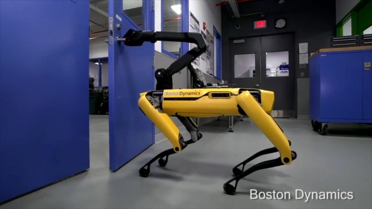 Watch Boston Dynamics' New Robot Dog Open Doors