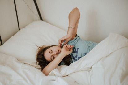 Waking up woman