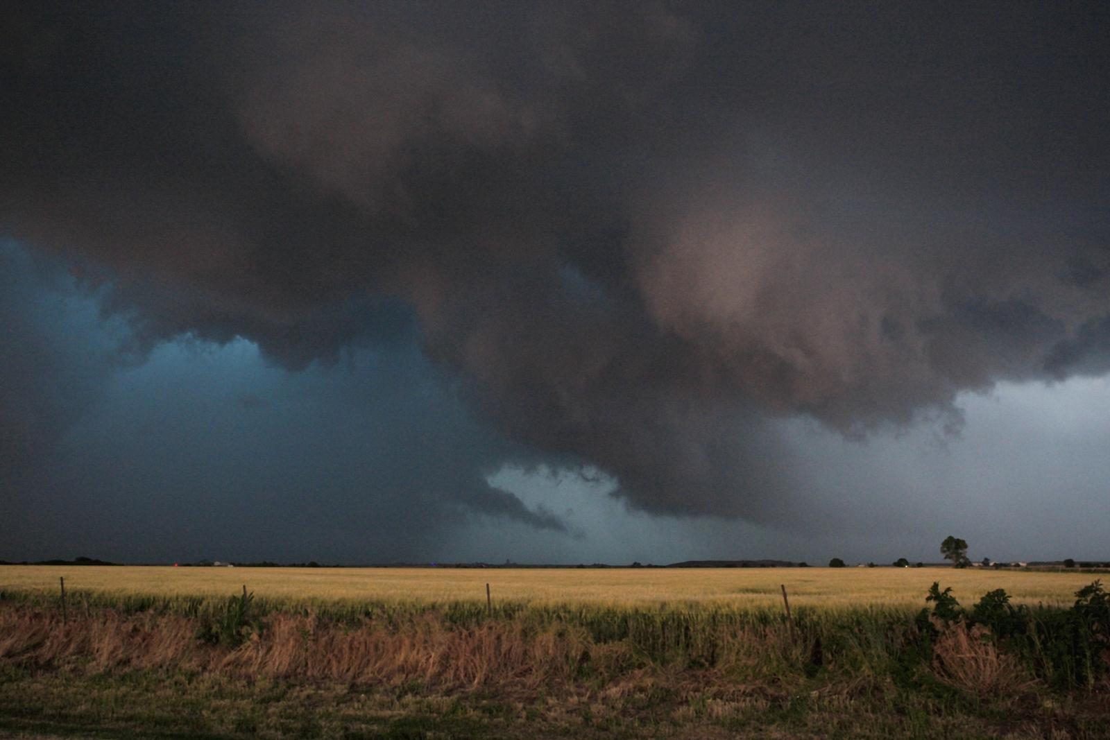 Oklahoma landscape tornado