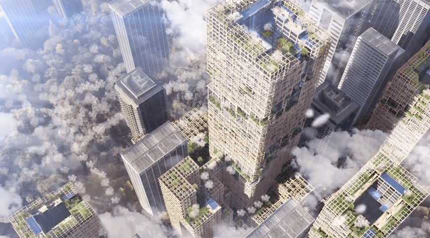 A Japanese firm has announced plans for the world's tallest wooden building, a 70-storey skyscraper in Tokyo