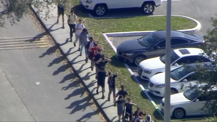 News Footage Shows Kids Walking Out After Florida School Shooting
