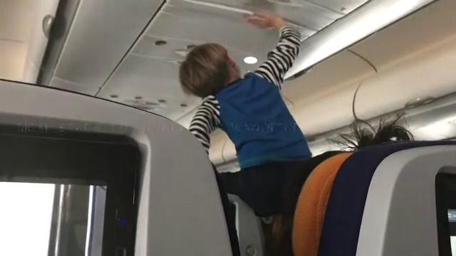 demonic child aboard flight
