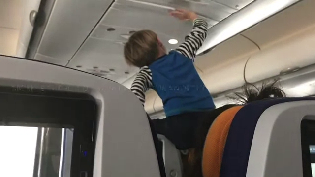demonic child aboard flight