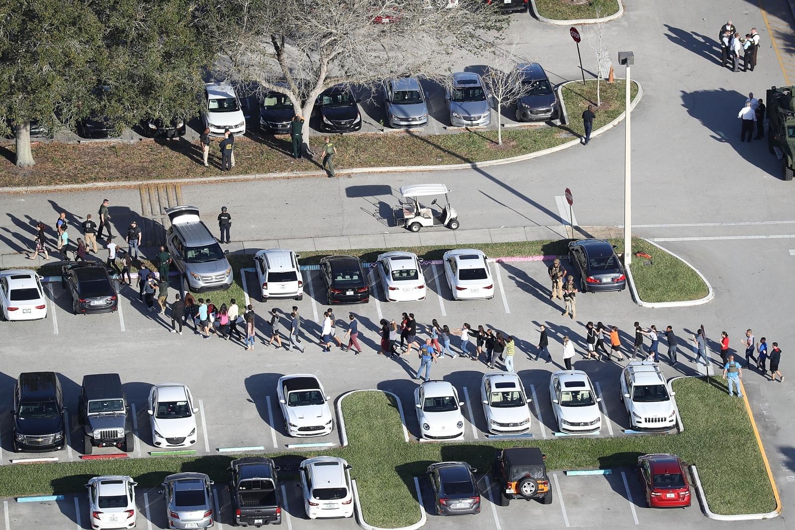 Florida school shooting evacuation