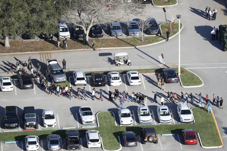 Florida school shooting evacuation