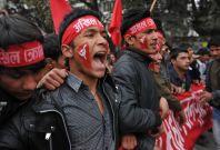Nepali Maoists in Kathmandu