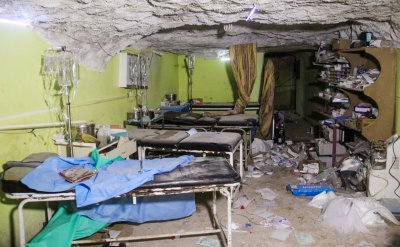Idlib hospitals markets bombed air strikes