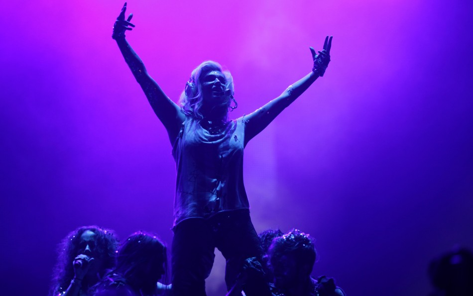 Singer Kesha performs during a concert at the Rock in Rio music festival in Rio de Janeiro