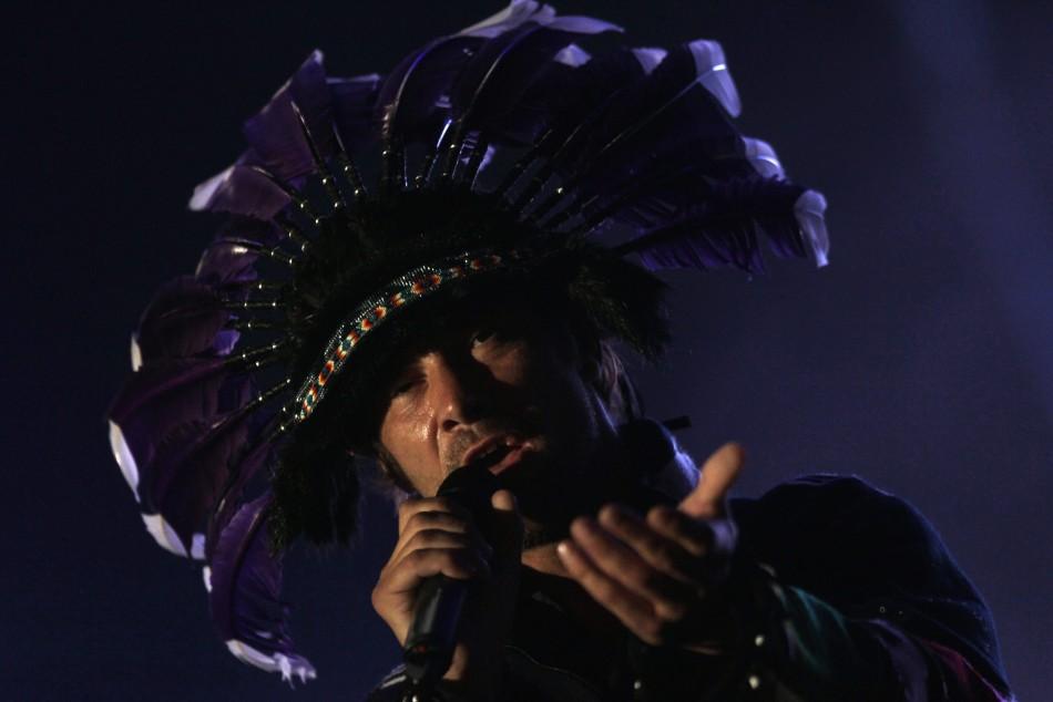 British singer Jay Kay of Jamiroquai