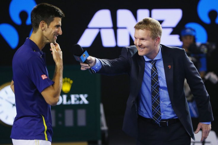 Novak Djokovic and Jim Courier