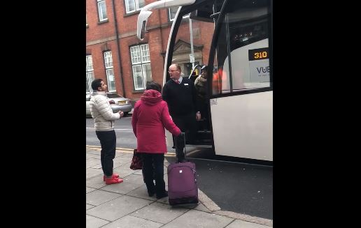 Coach driver drags woman