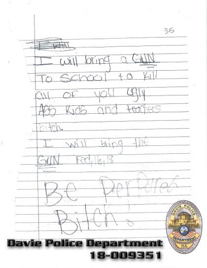 School shooting threat