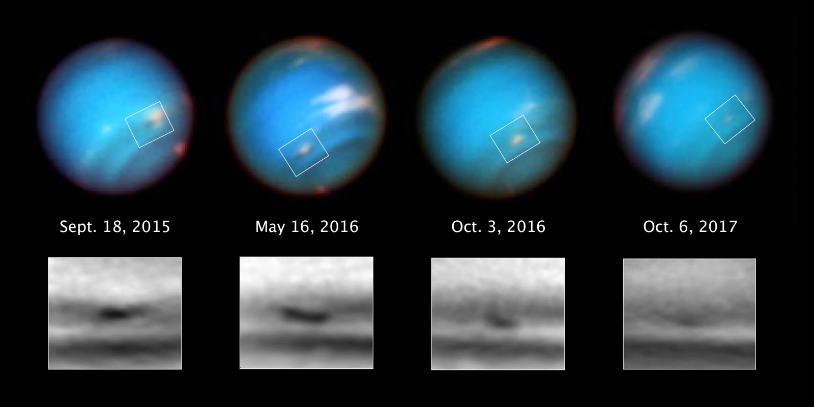 A Foul-Smelling Storm on Neptune is Mysteriously Fading Away
