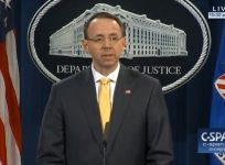 Deputy Attorney General Rod Rosenstein Gives Statement On Robert Mueller Indictment Of I3 Russian Nationals