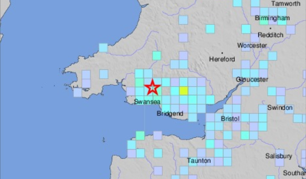 US Geological Survey Wales Earthquake