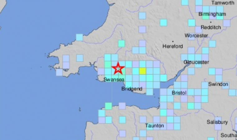 US Geological Survey Wales Earthquake