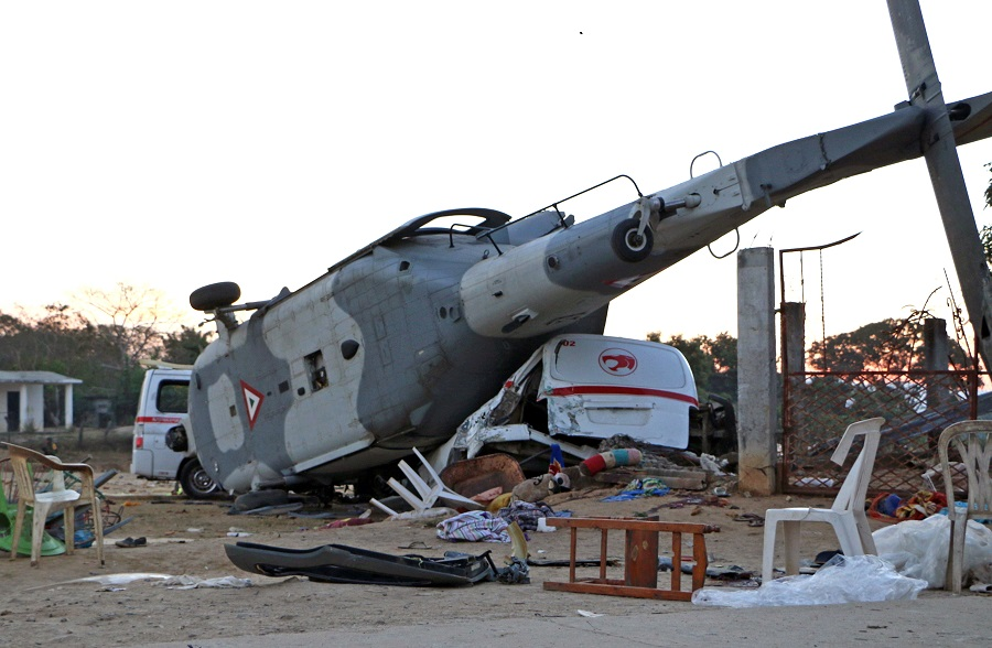 Helicopter crashes while assessing Mexico quake damage, killing 13 on the ground
