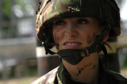 Former Miss England, Katrina Hodge, who was dubbed 'Combat Barbie' when she joined the Army has revealed how she quit after years of sexist abuse
