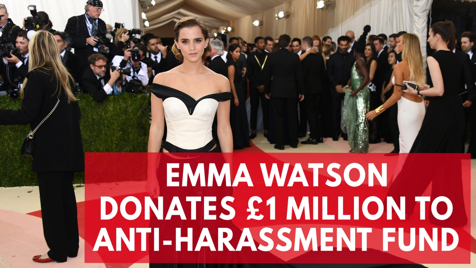 Emma Watson donates £1m to anti sexual harassment campaign