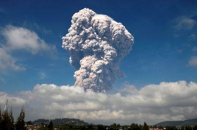 Mount Sinabung Indonesia Volcano