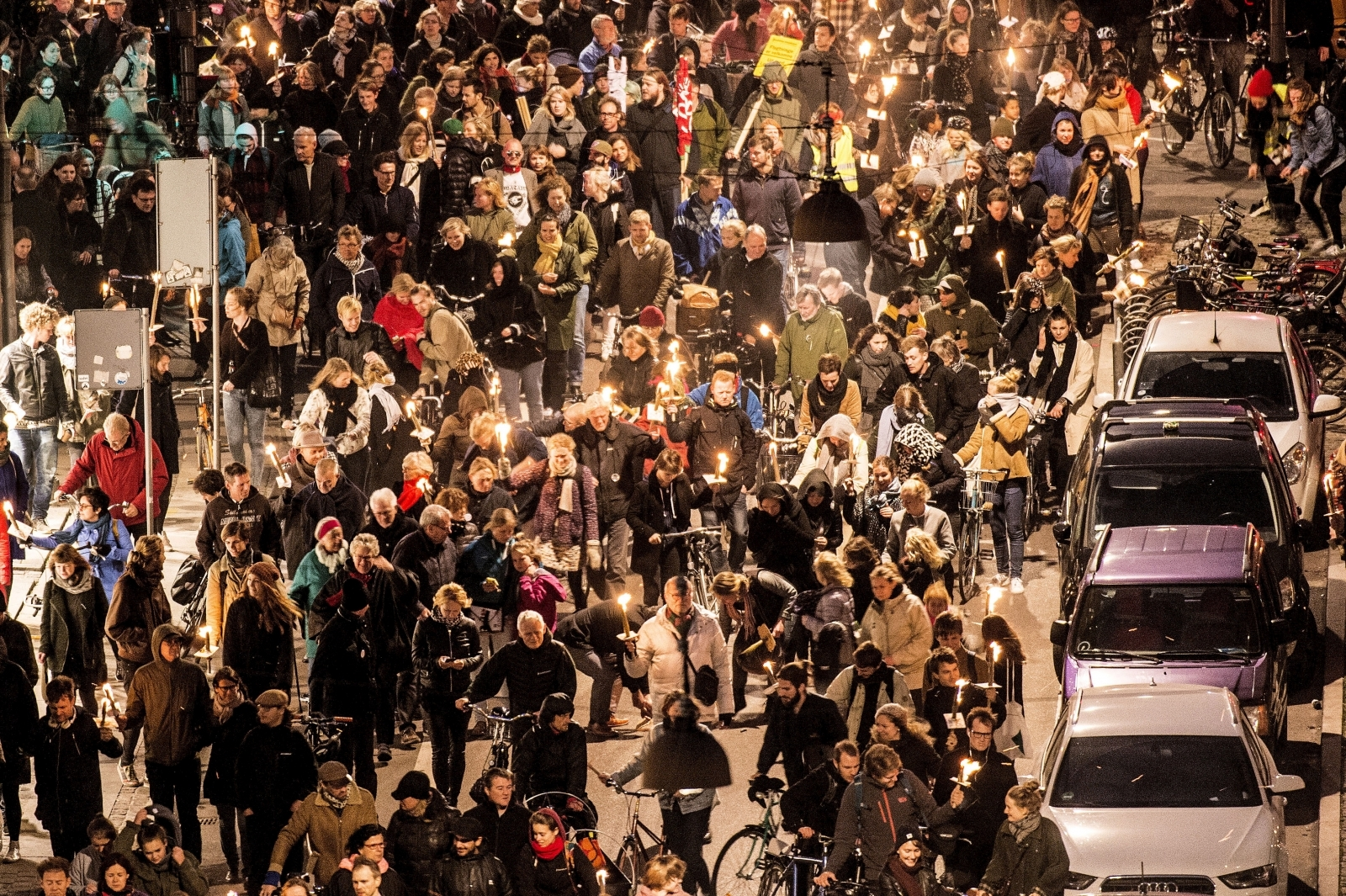 Denmark refugee protest