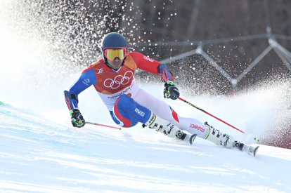 French racing skier Mathieu Faivre, in action during the Alpine Skiing Men's Giant Slalom, has been sent home from the Winter Olympics for being a bad sport
