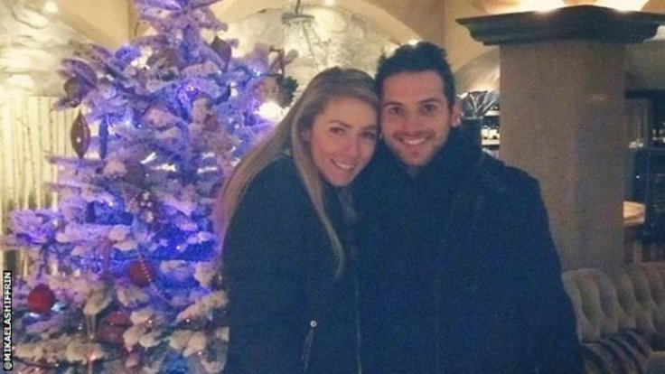Mikaela Shiffrin and her boyfriend Mathieu Faivre celebrating Christmas in Paris