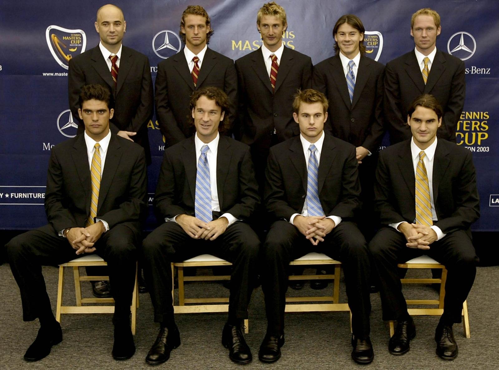 Roger Federer and Rainer Schuettler