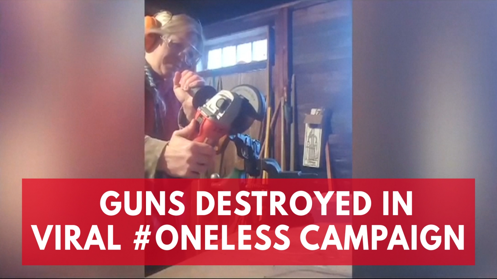 Guns destroyed in viral #Oneless campaign