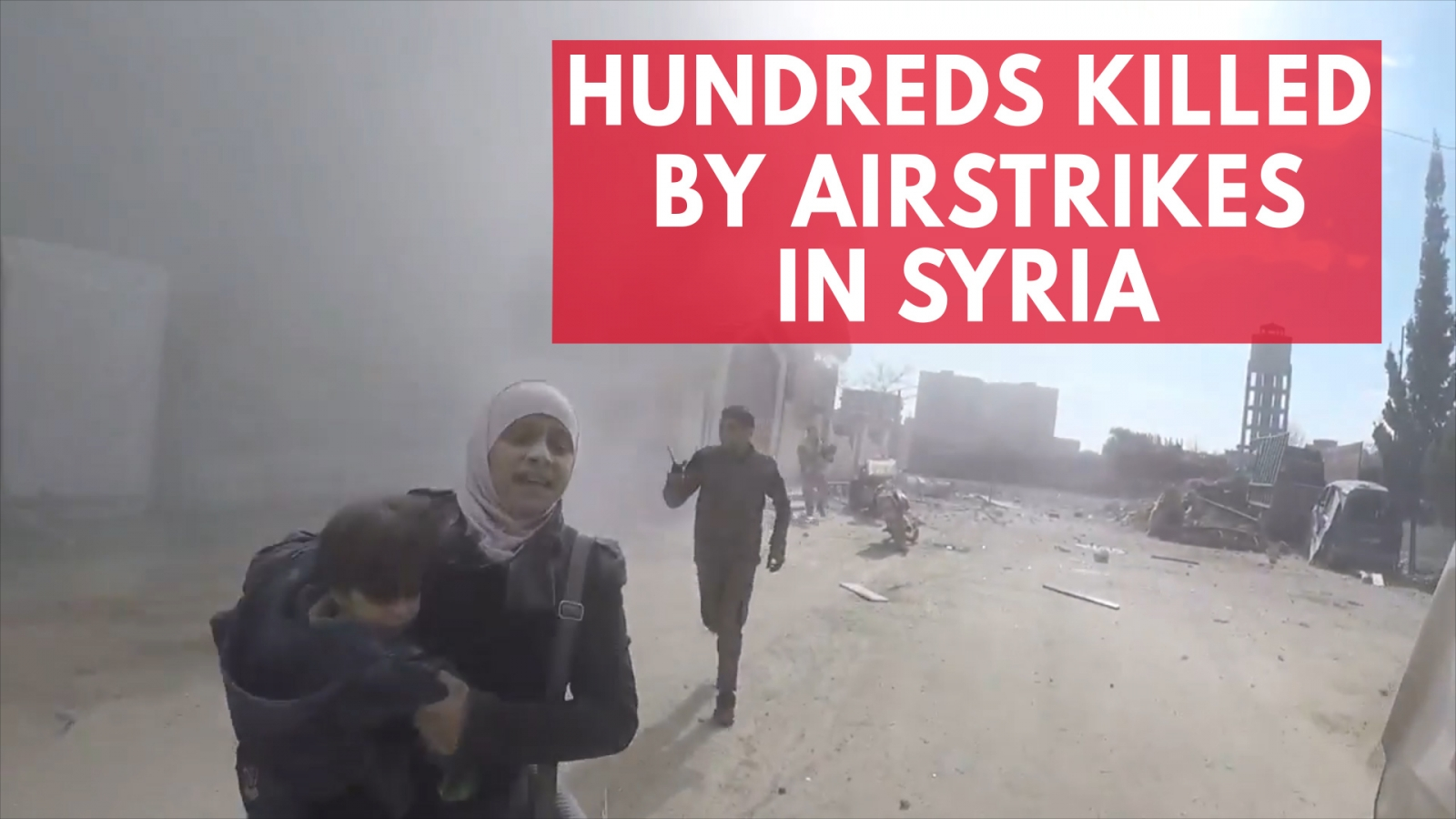 Hundreds Killed By Airstrikes In Syria's Eastern Ghouta