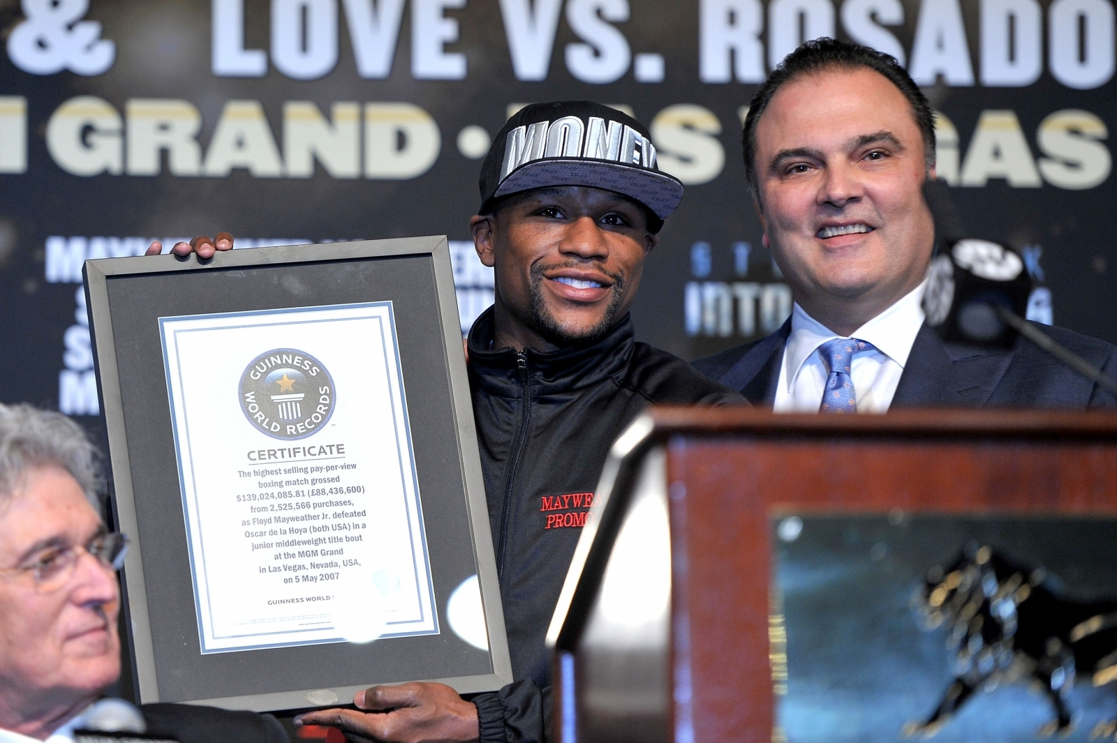 Floyd Mayweather and Richard Schaefer
