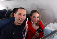 in-flight gender reveal