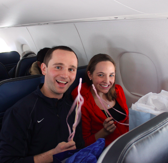 in-flight gender reveal