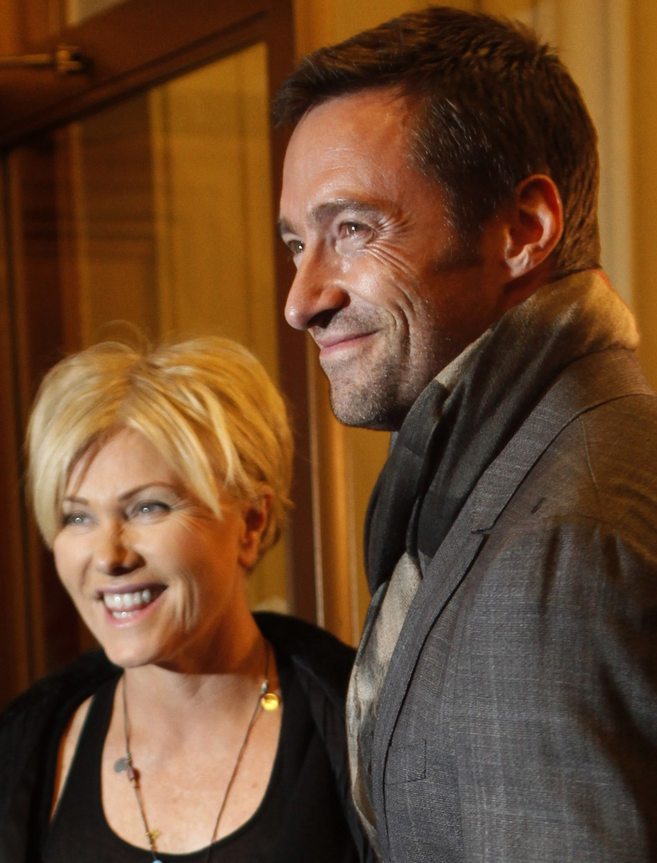 Actor Jackman and his wife, Furness