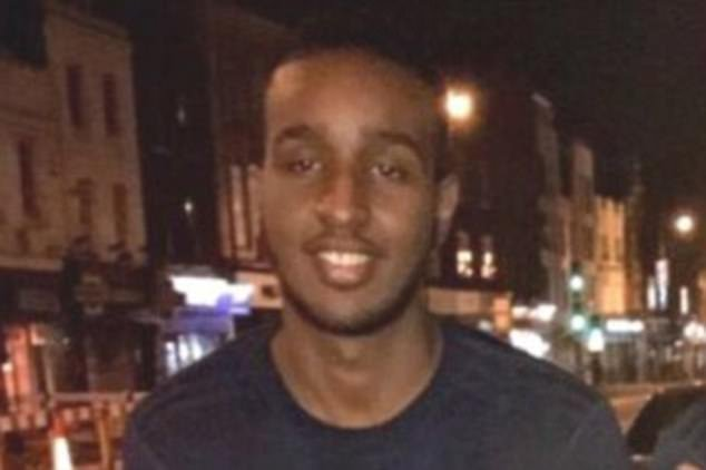 Sadiq Aadam, 20, was set upon by a gang wielding machetes and a samurai sword in Belsize Park and hacked to death