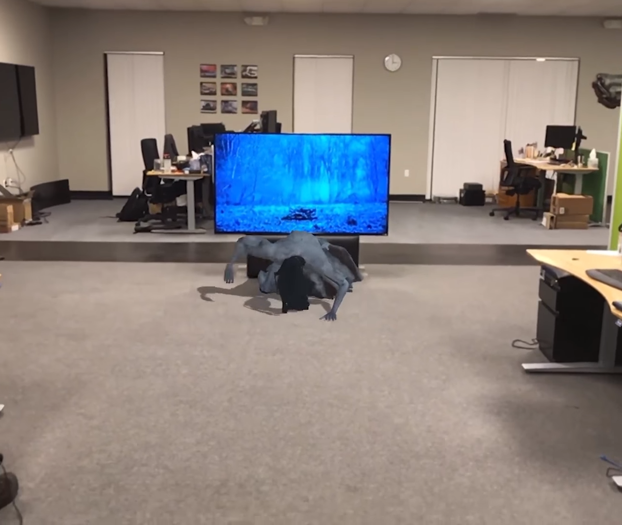The Ring AR simulation