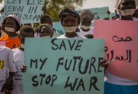South Sudan rape protest