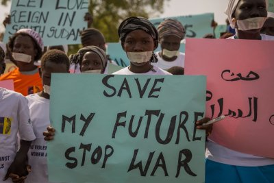 South Sudan rape protest