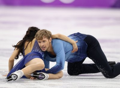 Madison Chock and Evan Bates of the U.S. fal