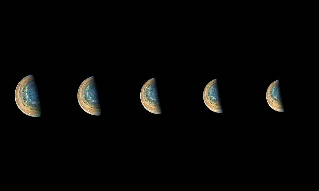 Nasa Juno Jupiter South Pole