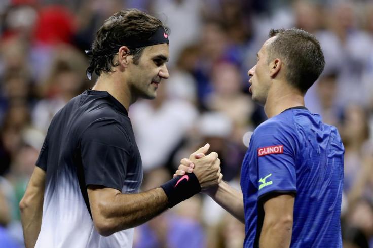 Roger Federer and Philipp Kohlschreiber