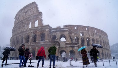 snow in Europe
