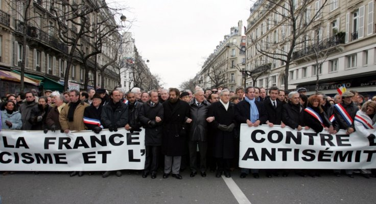 anti-Semitism protest France