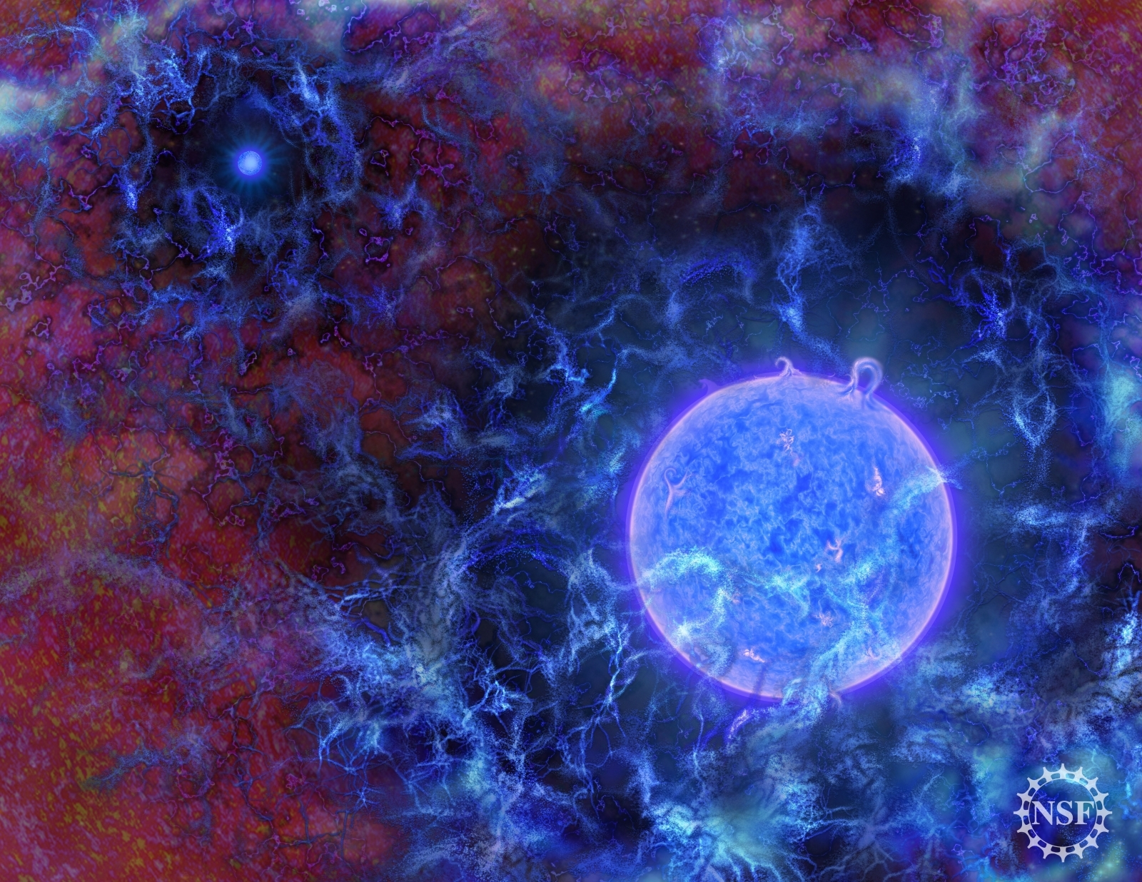 Signal from first stars in the universe