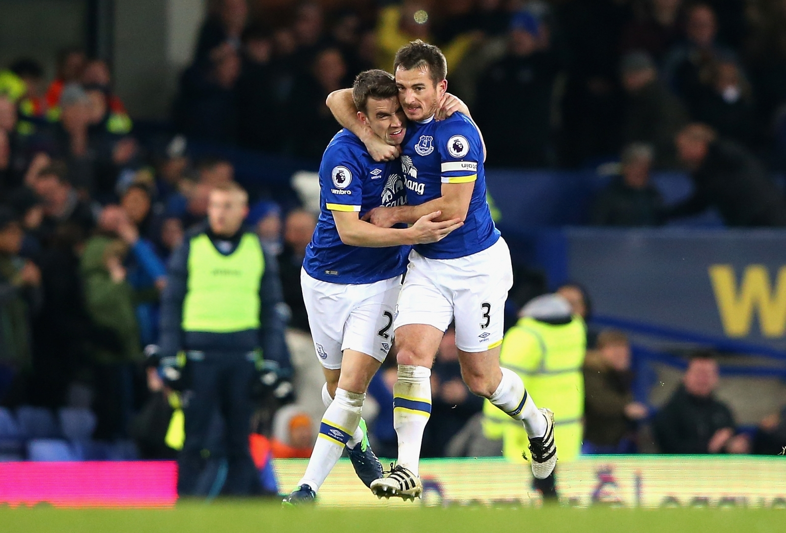 Seamus Coleman and Leighton Baines