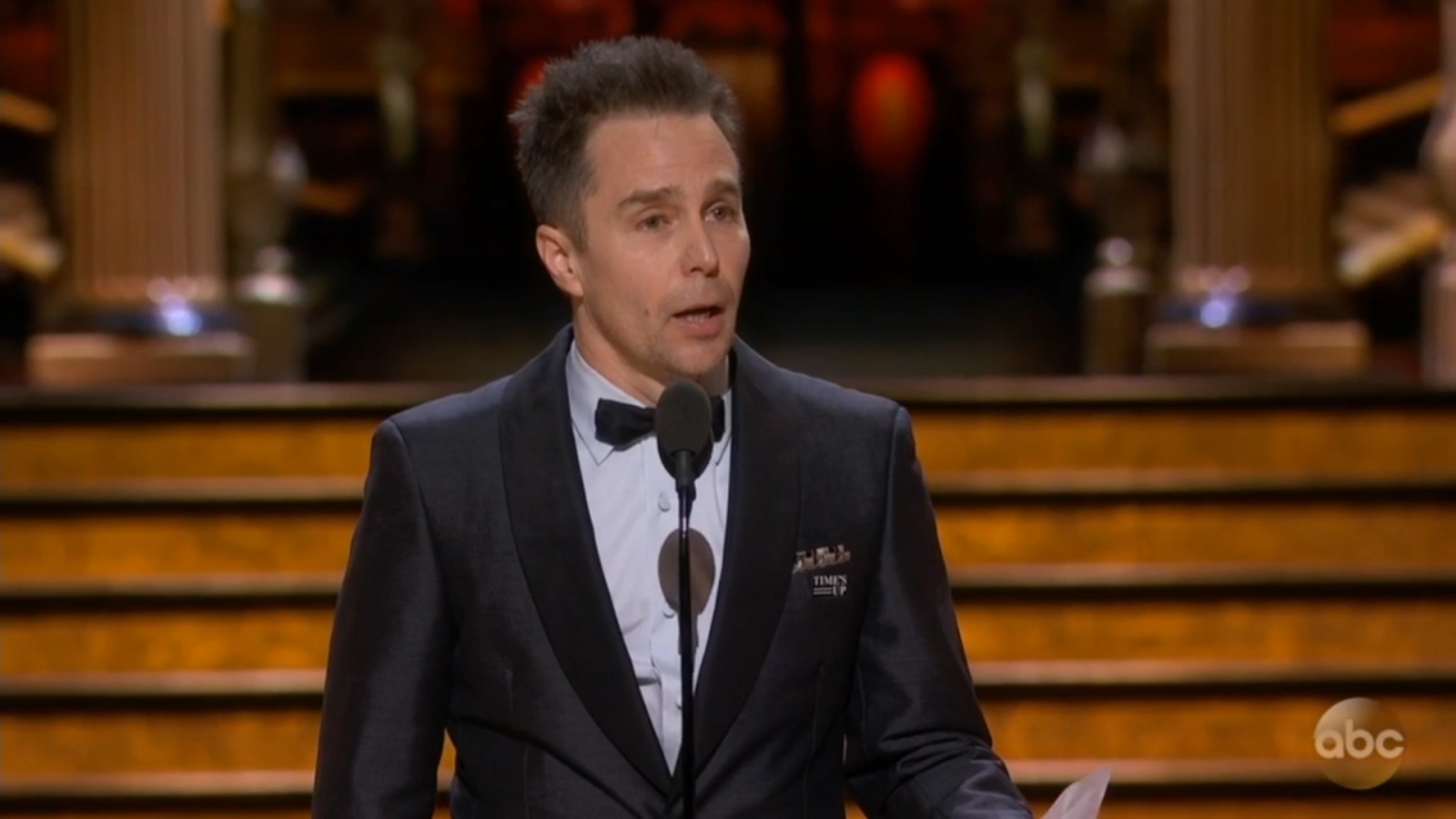 In Oscars acceptance speech Sam Rockwell thanks his parents for love of movies