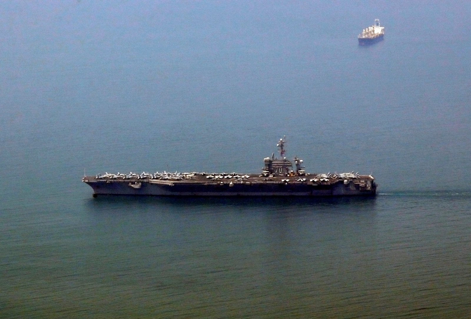 US aircraft carrier in Vietnam